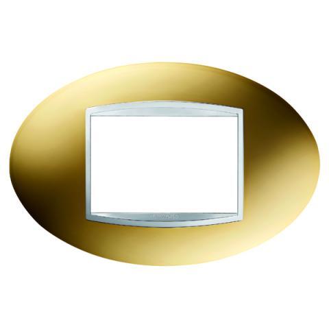 ART 3 gang plate - Gold