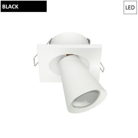 Downlight 75x75mm LED 2W 3000K Black
