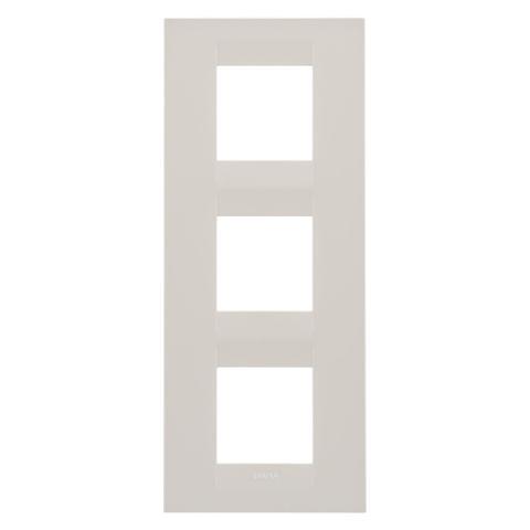 GEO International 2+2+2 gang vertical plate - Ivory
