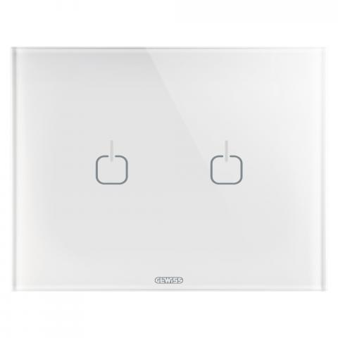 Plate ICE TOUCH - 2 Symbols - Glass - White