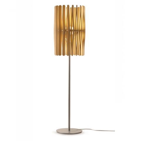 Наземна лампа Ø43cm E27 светло дърво