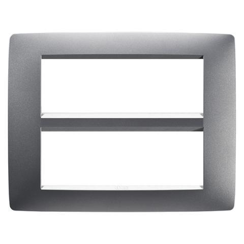 6+6-gang plate Titanium
