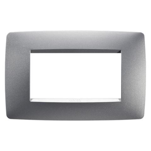 4-gang plate Titanium