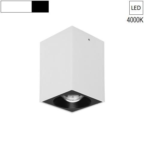 Ceiling Lamp/Spot  80x80 H155 LED 7.5W 4000K white/black