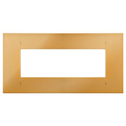 GEO plate 6 gang - Gold