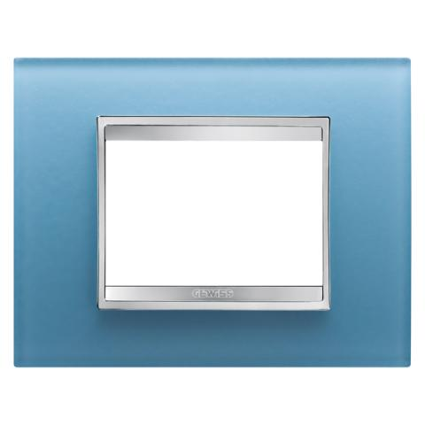 Рамка LUX 3 модула - стъкло - Aquamarine