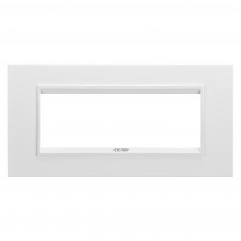 Рамка LUX 6 модула - метал - Monochrome White