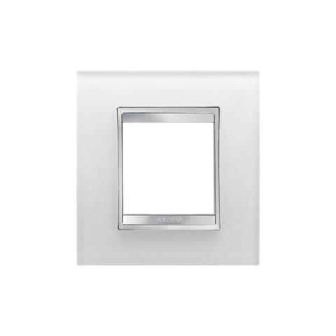 Рамка LUX International 2 модула - стъкло - Ice