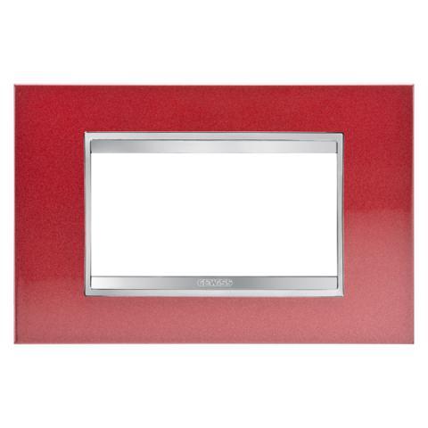 Рамка LUX 4 модула - Метал - Glamour Red