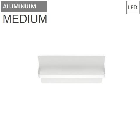 Wall/ceiling lamp 450X200mm 20W 3000K LED Aluminium