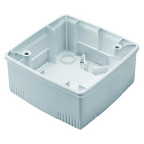 Wall-mounting box white 2 gang for plates ONE International