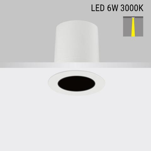 Downlight Perfetto-in 50 LED 6W 3000K 13°