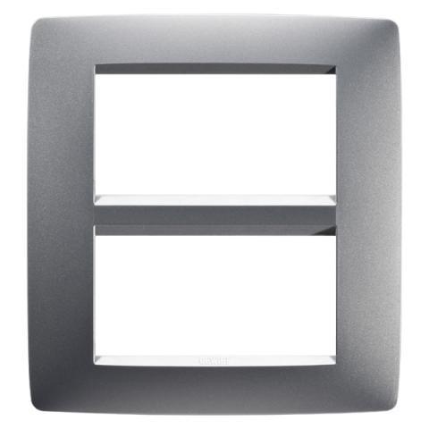 4+4-gang plate Titanium