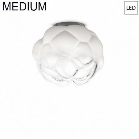 Плафон Ø40cm бял полупрозрачен LED