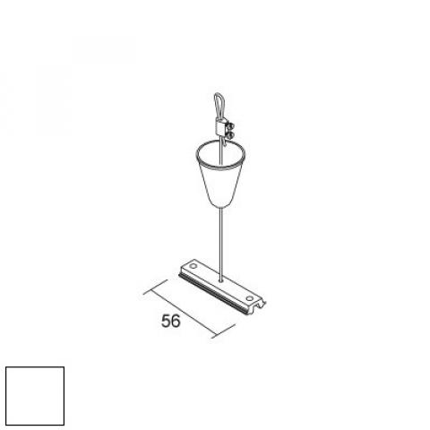 Suspension kit with steel wire 2000mm and 56mm plate for MM - white