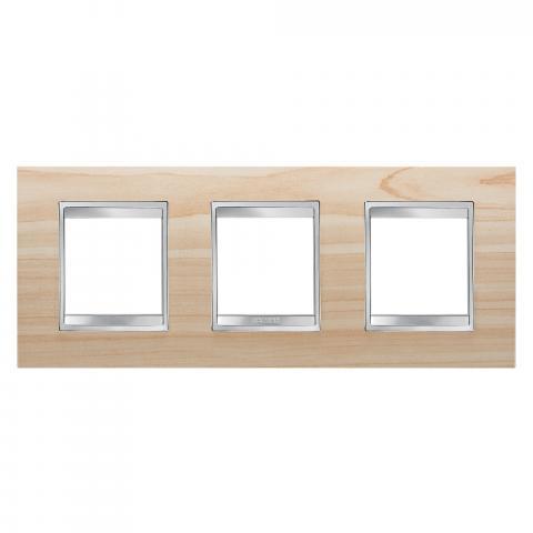 LUX International 2+2+2 gang horizontal plate - wood - Maple