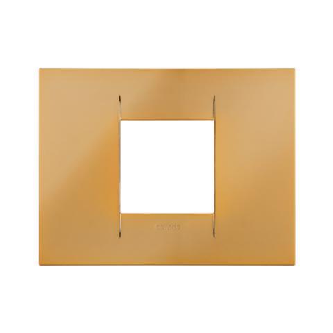 GEO plate 2 gang - Gold