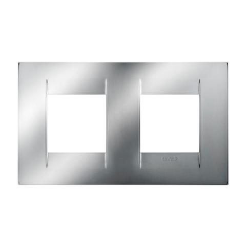 GEO International 2+2 gang horizontal plate - Chrome