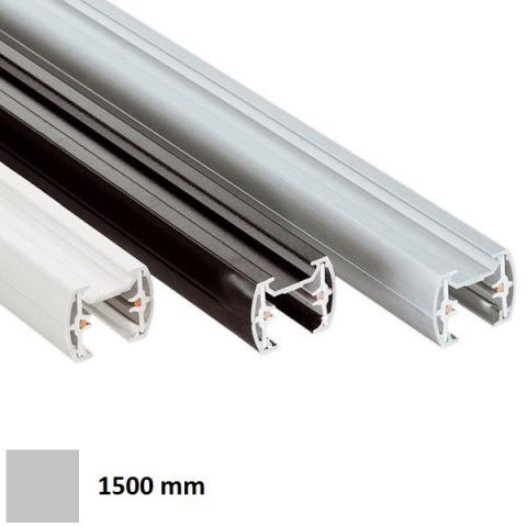 Single-phase track MM 1.5m - silver