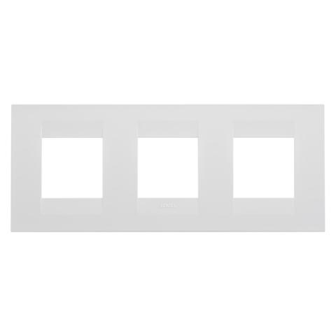 GEO International 2+2+2 gang horizontal plate - Milk White