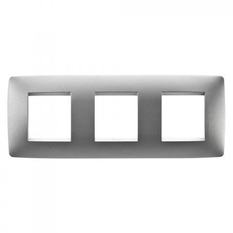 Рамка ONE International 2+2+2 хоризонтална - Titanium
