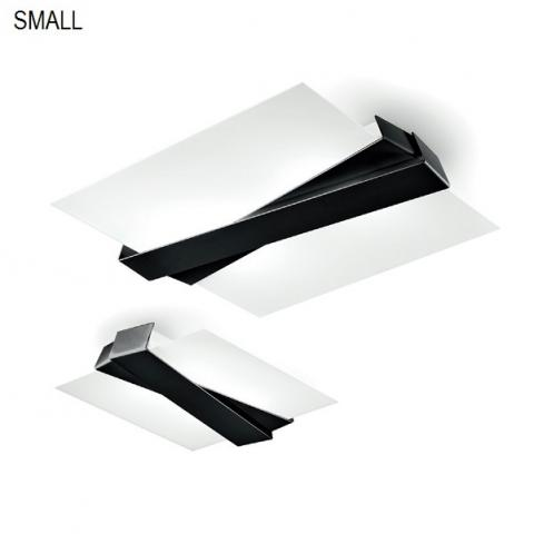 Ceiling light 42x35cm black