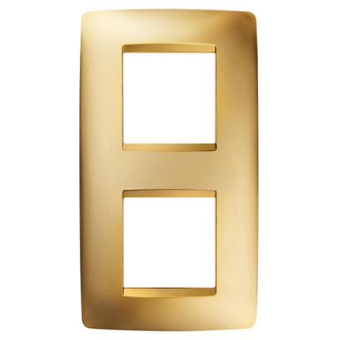Рамка ONE International 2+2 вертикална - Gold