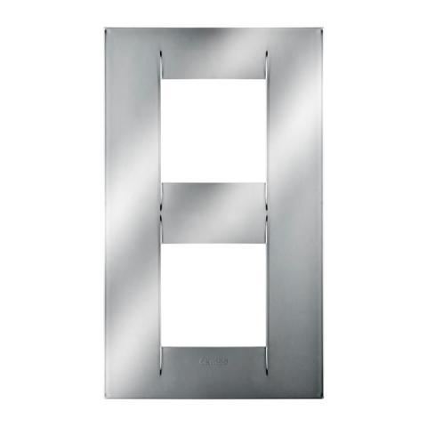 Рамка GEO International 2+2 вертикална - Chrome