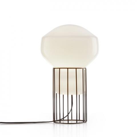 Настолна лампа H37cm Ø22.8cm черен хром