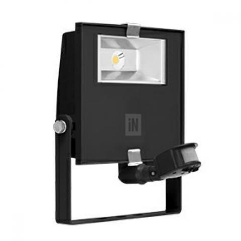 Прожектор GUELL ZERO DETEK S/M LED 28W черен, сензор за движение