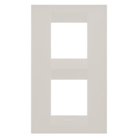 Рамка GEO International 2+2 вертикална - Ivory