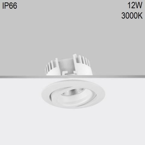 Adjustable downlight RA 8 DIXIT LED 12W 3000K CRI80 IP66
