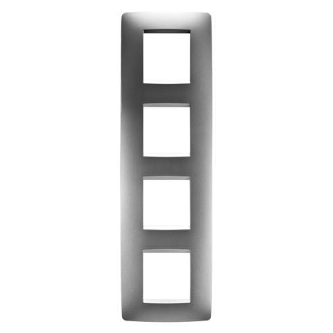 Рамка ONE International 2+2+2+2 вертикална - Titanium