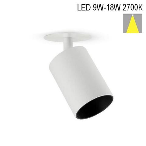 Spot MICROPERFETTO LOW-R LED 9-18W 2700K white