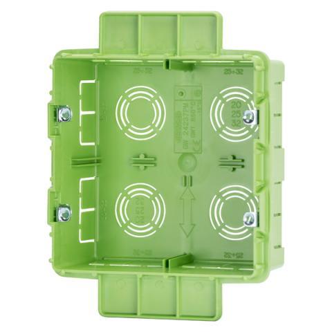 Rectangular box 4+4 gang for plasterbourd walls