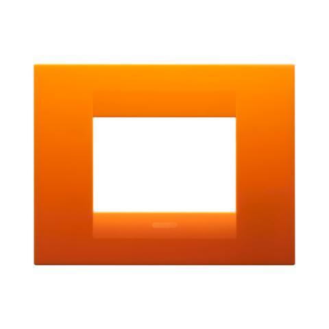 GEO plate 3 gang - Opal Orange