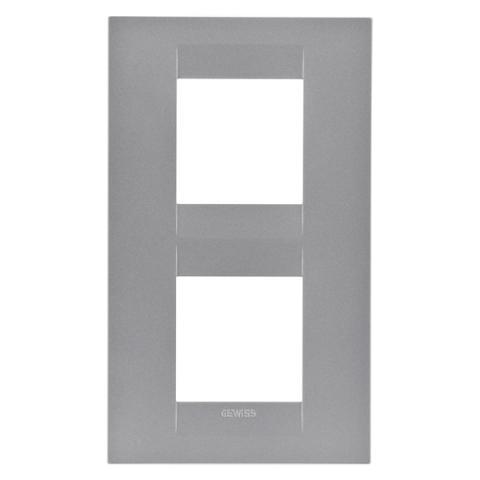Рамка GEO International 2+2 вертикална - Titanium