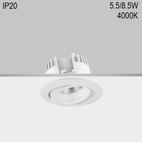 Adjustable downlight RA 8 DIXIT LED 5.5/8.5W 4000K CRI90 IP20
