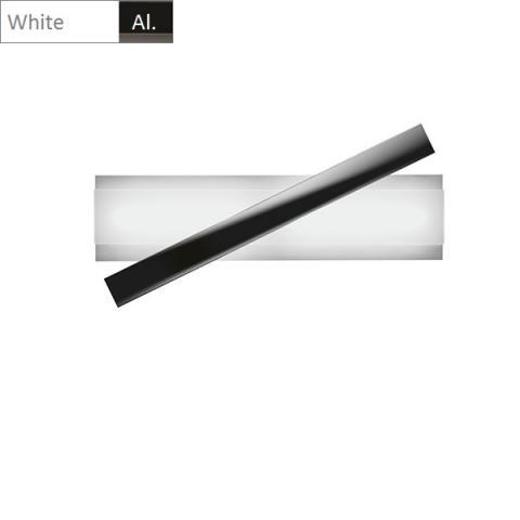 Плафон LED бяло - алуминий