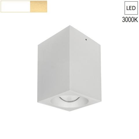 Ceiling Lamp/Spot  80x80 H120 LED 7.5W 3000K white/gold