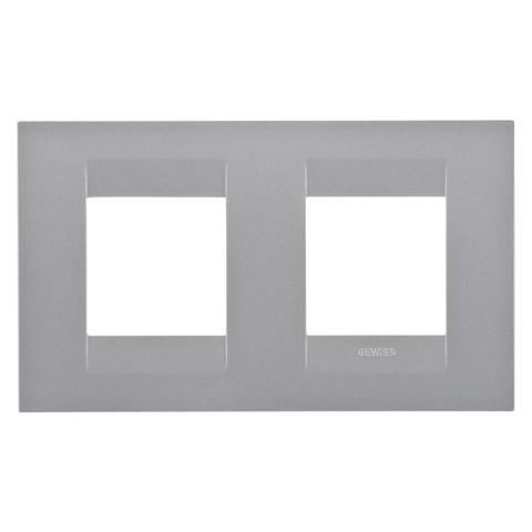 Рамка GEO International 2+2 хоризонтална - Titanium