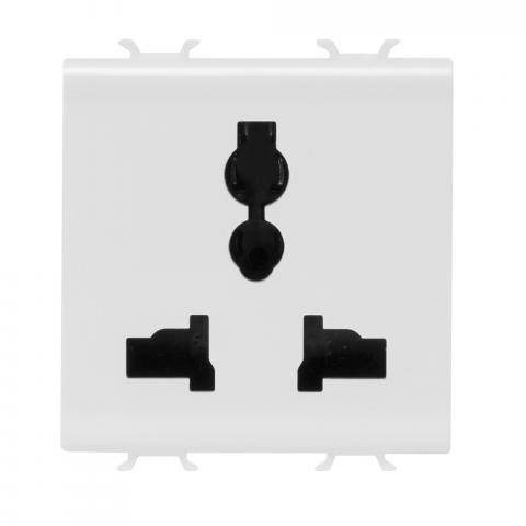 Multistandard socket-outlet 13/15A