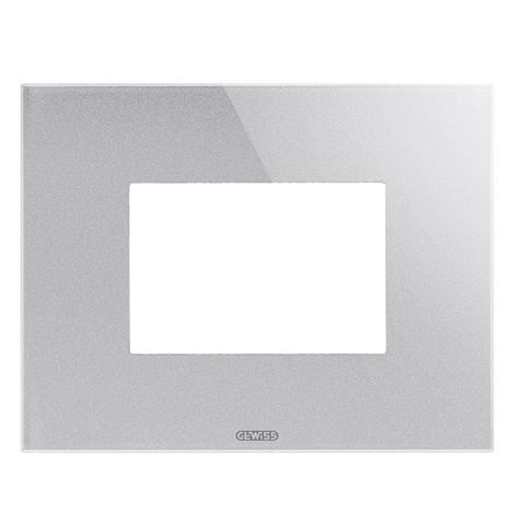 ICE plate - 3 gang - Glass - Titanium