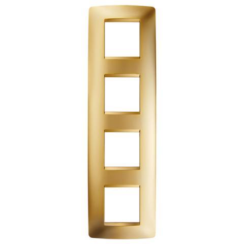 Рамка ONE International 2+2+2+2 вертикална - Gold