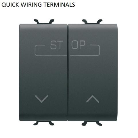 DOUBLE PUSH-BUTTON 1P NO 16A - QUICK WIRING TERMINALS