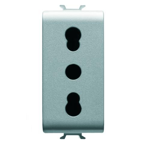 Контакт италиански стандарт 2Р+Е 16А - двоен ампераж