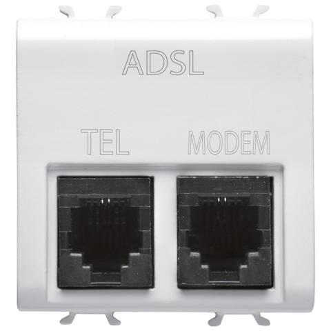 Двойна ADSL телефонна розетка