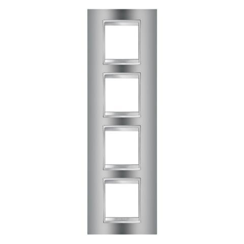 Рамка LUX International 2+2+2+2 вертикална - Chrome