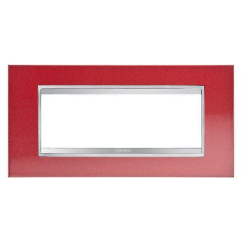 Рамка LUX 6 модула - Метал - Glamour Red