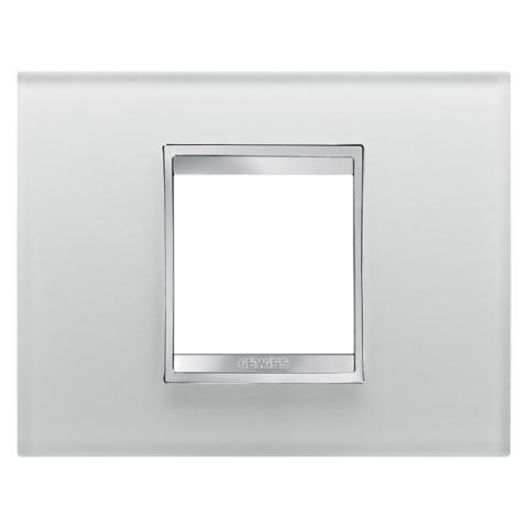 Рамка LUX 2 модула - стъкло - Ice